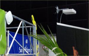 Les antennes wifi de la zone presse du Tour de France, qui peuvent supporter jusqu'à 1 000 connexions simultanées.