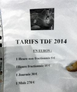 Les tarifs du wifi fourni par Orange aux journalistes de presse écrite sur le Tour de France 2014